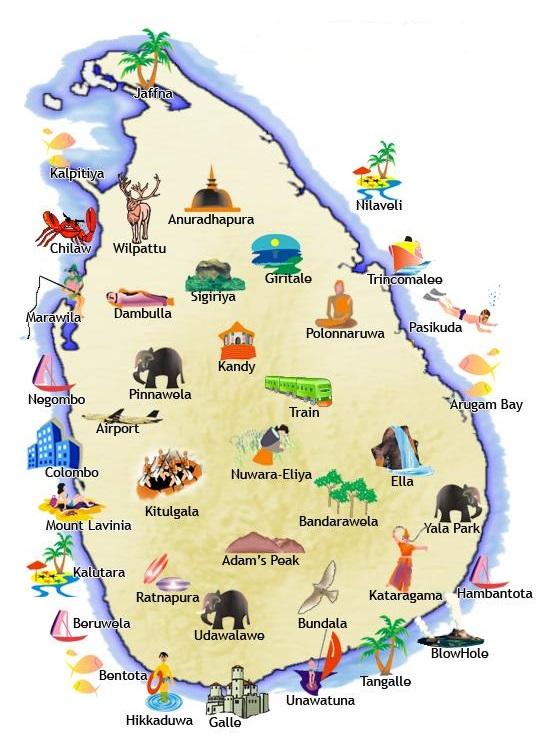 Sri Lanka Karte Zum Drucken.Erkundungstouren Auf Sri Lanka Sri Lanka Eine Insel Zum Verweilen