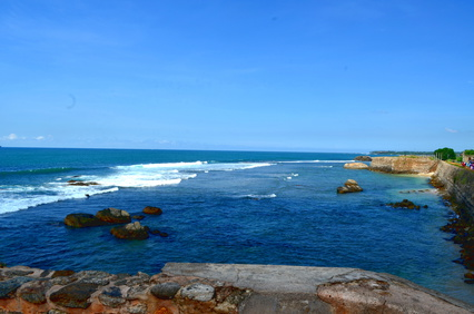 panorama of the sea in Galle Sri Lanka