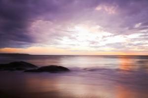 Kurz vor Sonnenaufgang, Arugam Bay, Sri Lanka, Langzeitbelichtung